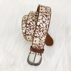 Lucky Brand   Allover Floral Embroidery Belt